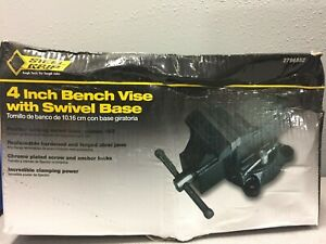 Steel Grip Dr76516 4 In Forged Steel Bench Vise Swivel Base
