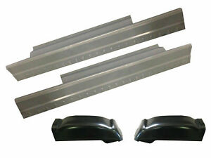 99 07 Gmc Silverado Sierra Slip on Rocker Panel Cab Corner Kit 2 Door Pair
