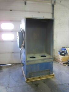 Nordson Econo coat Powder Booth Model Nvc 4 2000 Cfm Dust Collector