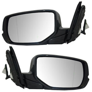 Fits Honda Accord Coupe 2013 2014 2015 2016 Set Of Power Mirrors Heated Signal