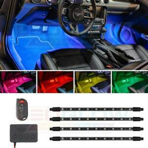 Ledglow 4pc Million Color Smd Led Interior Foowell Underdash Neon Lights Kit