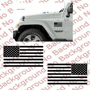 American Usa Flag Vinyl Decal Sticker For Car Truck Window Jeep Wrangler Only 1