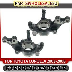 2pcs Spindle Knuckle Steering For Toyota Corolla 03 08 Sedan Front Left