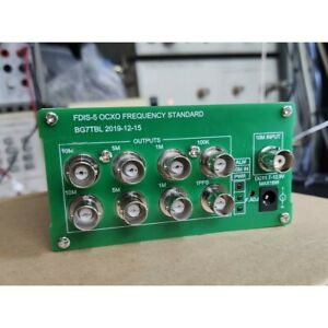 Ocxo Frequency Standard 10mhz 5mhz 1mhz 100khz 1pps Outputs Power Adapter Xr