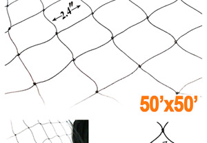 Zl 11 Bird 50 X 50 Netting For Poultry Aviary Game Pens New 2 4 Sq Black