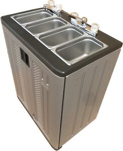 Portable Sink Mobile Concession Three Compartment Hot Water W hand Wash Sink
