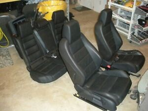10 14 Oem Vw Gti Mk6 Complete Set Of Leather Seats Front Heated