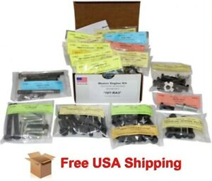 1968 Ford Mustang 289 302 W Ac Concourse Amk Master Engine Bolt Kit 131 Pcs