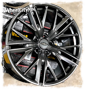 20 Inch Hyper Black Staggered Chevy Camaro Zl1 Oe Replica Wheels 2010 2019 5x120