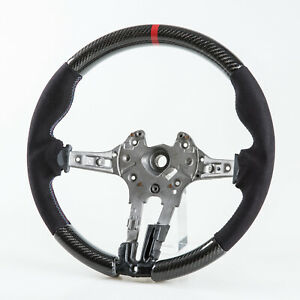 Carbon Sport Steering Wheel Suede 3 Colos Stitching For Bmw F80 M3 F82 M4 F87 M2