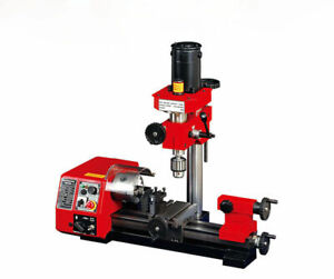 M1 250mm Micro Multi function Machine Drilling And Milling Lathe Machine 220v