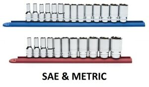 Gearwrench 3 8 Drive 6 Point Sae Metric Mid Length Socket Set 80554s 80555s