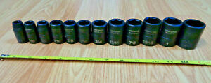 Usa Craftsman 1 2 Drive Impact Socket Set Sae Inch Easy Read Laser Etched