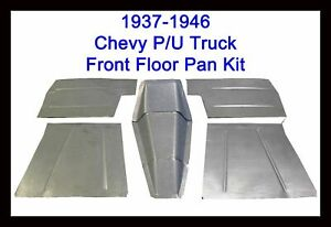 1937 1946 Chevrolet Chevy Pickup Truck 8pc Floor Pans Toe Boards Trans Cover