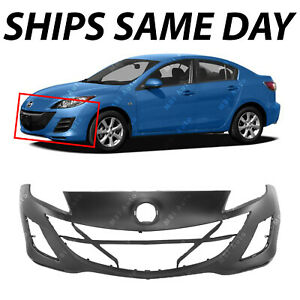 New Primered Front Bumper Cover Replacement For 2010 2011 Mazda 3 2 0l 10 11