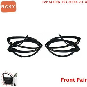 For Acura Tsx 2009 2014 Door Weatherstrip Front 2pc Opening Seal Stripping
