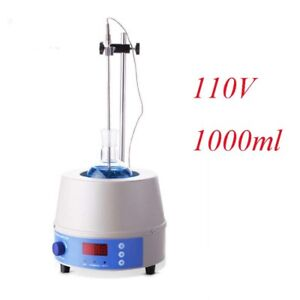 Intbuying 1000ml Electric Digital Heating Mantle With Magnetic Stirrer 110v 350w