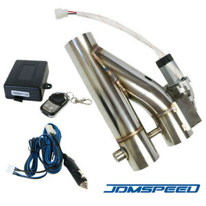 Jdmspeed 63mm Exhaust Control E Cut Out Dual Valve Electric Y Pipe With Remote