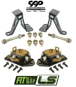 1965 70 Chevy Impala Belair Cpp Ls Swap Conversion Engine Perch Motor Mount Kit