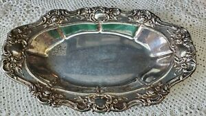 Towle Ep Silver Plate Platter Dish Oval 13 X8 Serving Jowle Embossed Collectibl