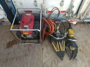 Set Hurst Jaws Of Life Power Unit 363r308 Hurst Ml 28 Spreader And Hurst Cutter