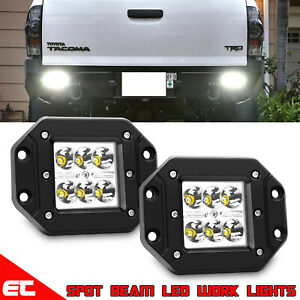 4 For Toyota Tundra 4runner Flush Mount Backup Reverse Rear Bumper Led Lights