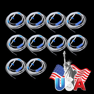 15x Surgical Dental Irrigation Tube Hose Disposable For Wh Implant Motor 271cm