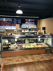 10ft Commercial Deli meat Case Great Condition Preventive Maintenance See Photo