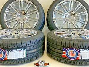 20 Wheels Rims Tires Fit Oem Porche Cayenne Panamera Gts Turbo Chrome Macan 5x1