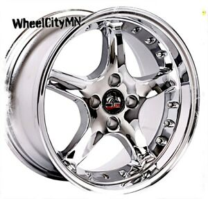 17 X9 Inch Chrome Ford Mustang Cobra R Oe Replica Wheels 1987 1992 4x108 4x4 25