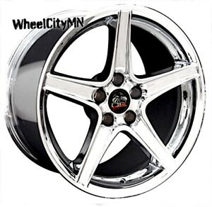 18 X9 18x10 Chrome Ford Mustang Saleen Oe Replica Wheels 1994 2004 5x4 5 New