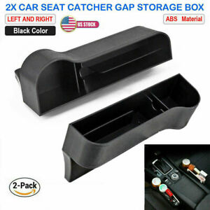 2x Car Seat Gap Catcher Filler Storage Box Pocket Organizer Holder Abs Suv Us