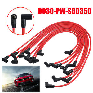 9x Racing Spark Plug Wires Set For Chevrolet Hei Sbc Bbc 350 383 454 V8 Gas Ohv
