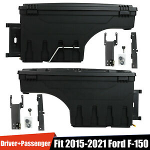Abs Truck Truck Bed Storage Box Toolboxes 1 Pair Black For 2015 2019 Ford F150