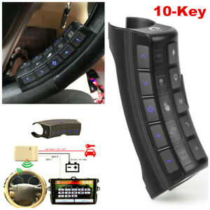 10 key Car Steering Wheel Button Remote Control For Stereo Player Gps Universal