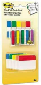 Post it Flags And Tabs Combo Pack Assorted Primary Colors 230 pack 686 xlp