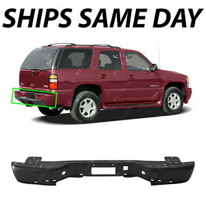 New Primered Steel Rear Bumper Face Bar For 2000 2006 Chevy Suburban Tahoe 00 06