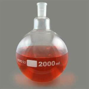 Single Neck Round Bottom Boiling Flask 24 40 Joint 2000ml