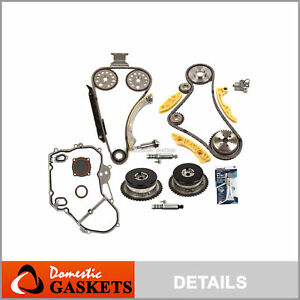 Timing Chain Kit Vct Selenoid Actuator Gear Cover Gasket Fits Gm Ecotec 2 0l 2 4