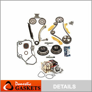 Timing Chain Kit Vct Selenoid Actuator Gear Water Pump Fits Gm Ecotec 2 0 2 4