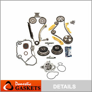 Timing Chain Kit Vct Selenoid Actuator Gear Water Pump Fits Gm 2 0l 2 4l Ecotec