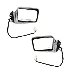 Set Of Side View Power Chrome Mirrors Heated For Nissan Pathfinder Pickup Truck