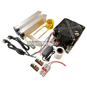 4kw Induction Heater tesla Coil water Pump 70ml Crucible power Supply Dc 48v