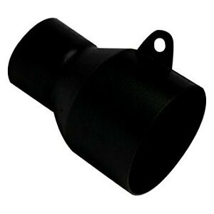 Exhaust Tip Adapter Heat Treated Round Bolt on Black Powder Coated Exhaust Tip
