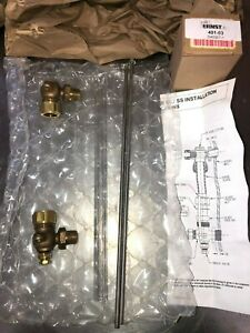 John C Ernst 401 03 Tabular Liquid Level Brass Gage Valves Hp Gage Glass