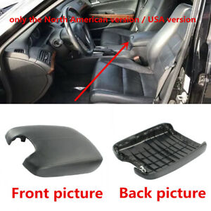 Fit For 2008 2012 Honda Accord Center Console Lid Armrest Cover Black Leather