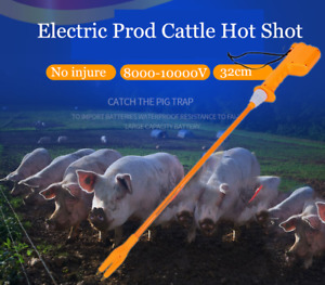 Animals Livestock Electric Hand Prod Cattle Hot Shot Handle Swine With Battery