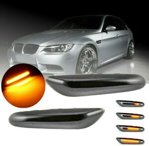 Smoked Led Dynamic Side Marker Turn Signal For Bmw E90 E91 E92 E60 E87 E82 E46