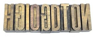 Letterpress Mix Letter Wood Type Printers Block lots Of 9 Typography eb 12