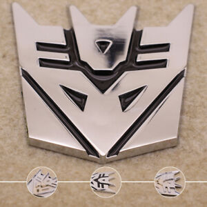 Car 3d Transformer Decepticon Logo Emblem Badge Sticker Decal Chrome Universal